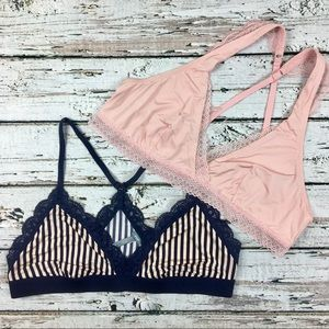 Aerie XL Satin Bralette Lot Bundle 2 pieces